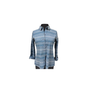 Load image into Gallery viewer, Habitat Variegated Striped Shaped Shirt/Blue.