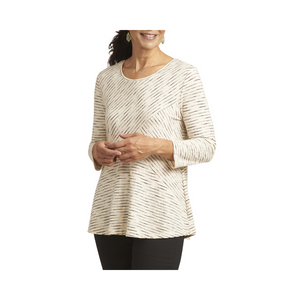 Habitat Cotton Stripe Mixed Tunic - Natural.