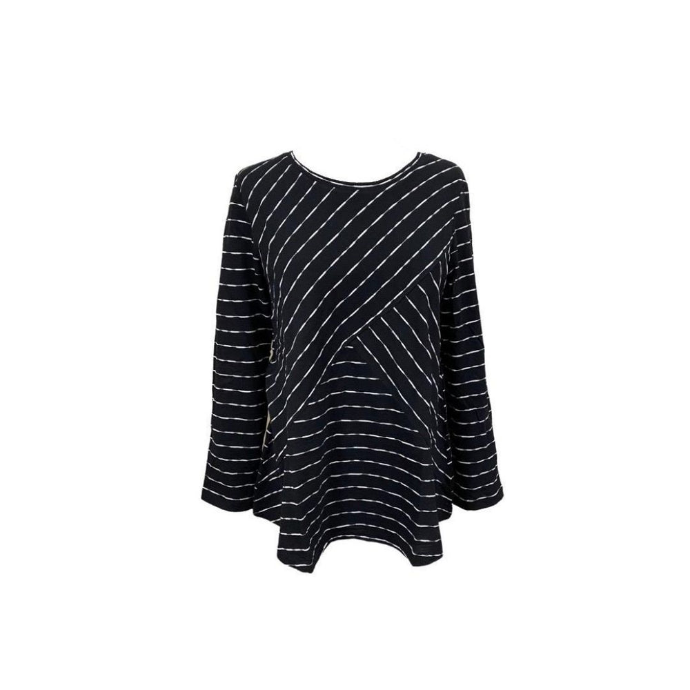 Habitat Mixed Stripe Tunic, Black