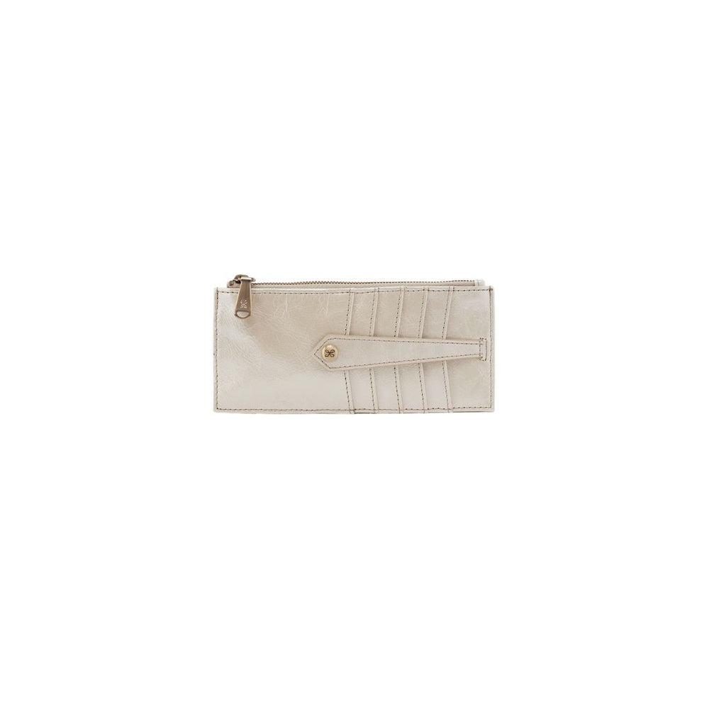 HOBO Linn Credit card Wallet, Pearled Ivory.