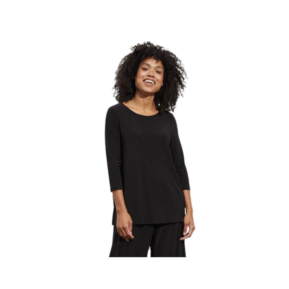 Liv by Habitat Foundation 3/4 Sleeve Basic Tee, Black