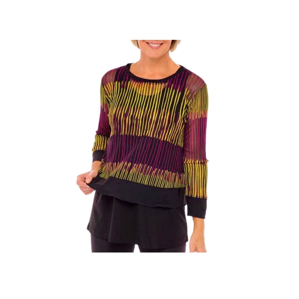Liv by Habitat Mixed Boxy Tee - Archival Stripes