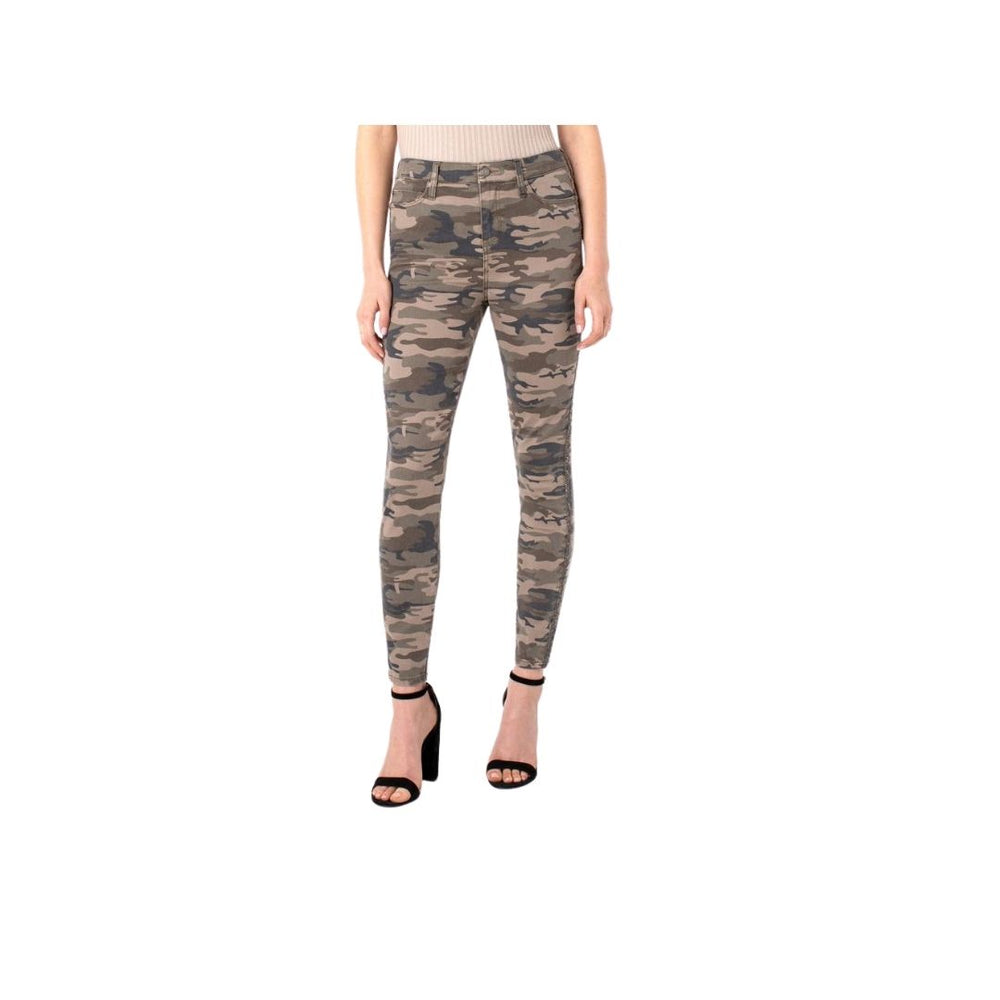 Load image into Gallery viewer, Liverpool Hi-Rise Ankle Skinny, Camo.