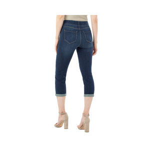 Load image into Gallery viewer, Liverpool Chloe Crop Rolled Cuff High Performance Denim.