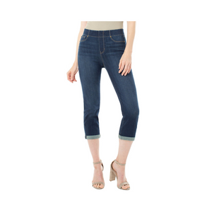 Liverpool Chloe Crop Rolled Cuff High Performance Denim.