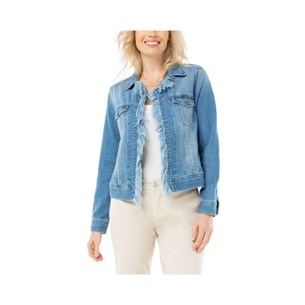 Load image into Gallery viewer, Liverpool Fray Placket Trucker Jacket Rigid