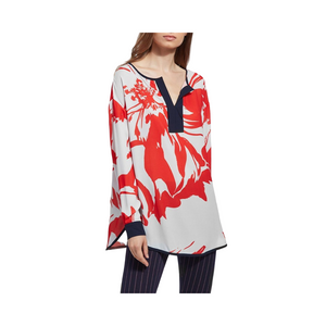 Lysse Marina Top - Red Floral - XS.