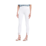 Lysse Side Split Denim - White