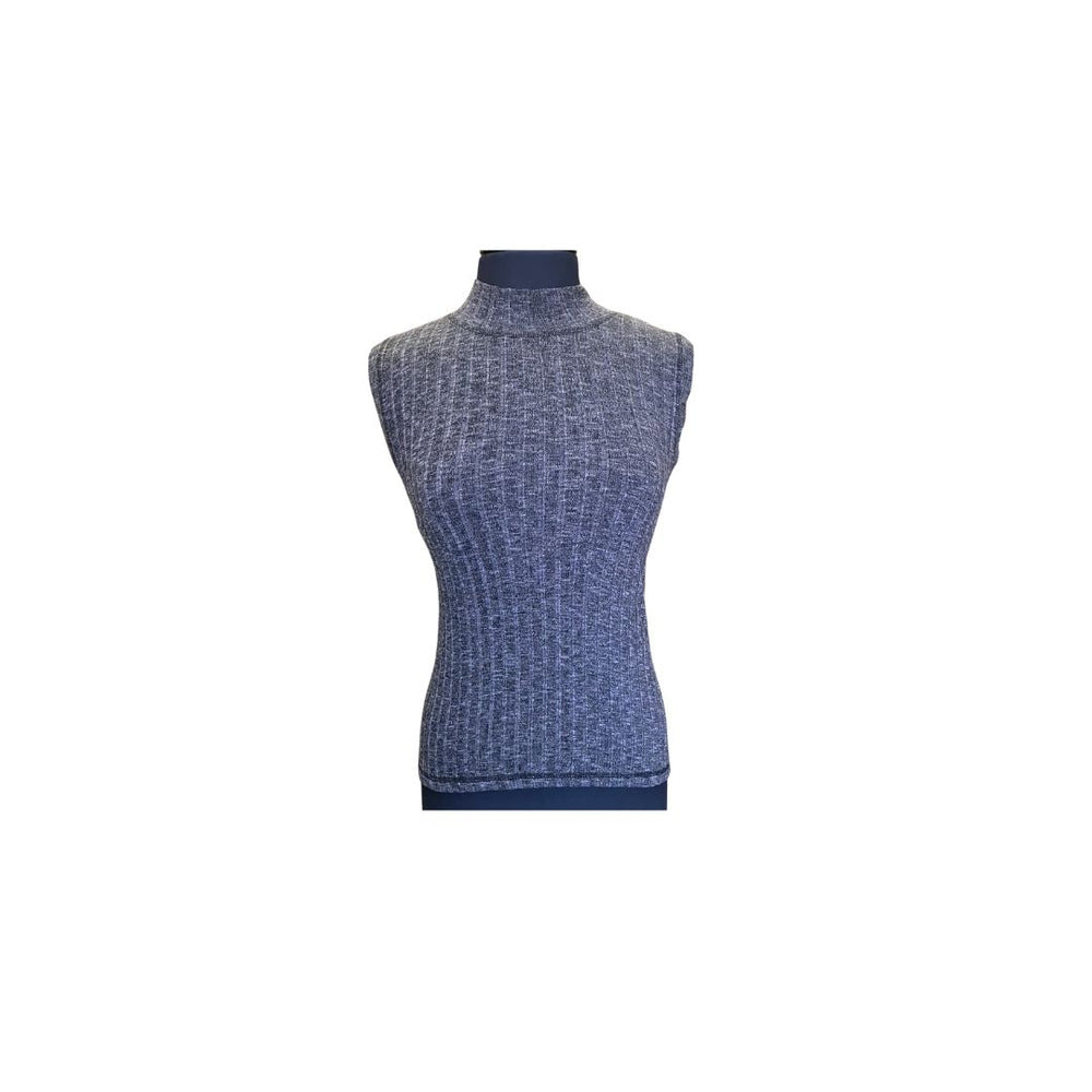 Michael Stars Violet Mock Neck Top, Galvanized.