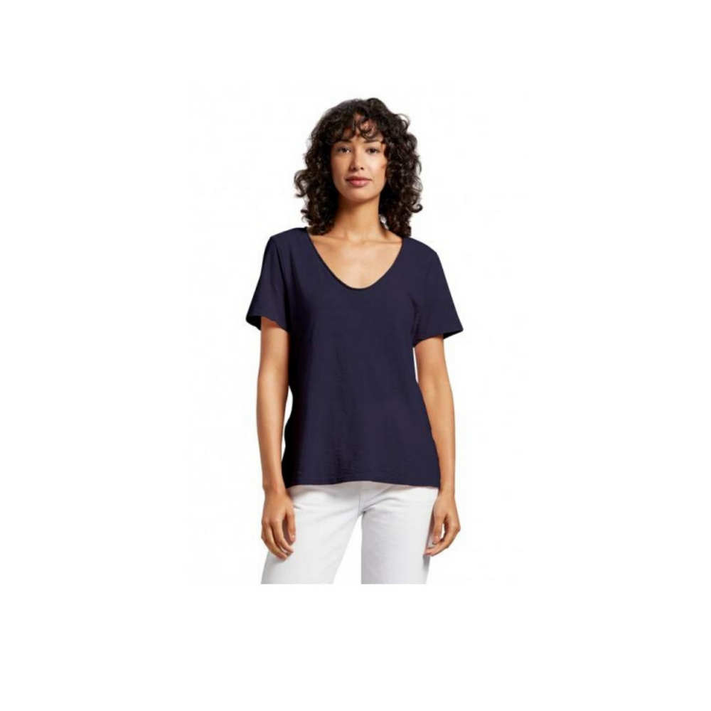 Load image into Gallery viewer, Michael Stars Kayla V Neck Tee - Admiral Blue