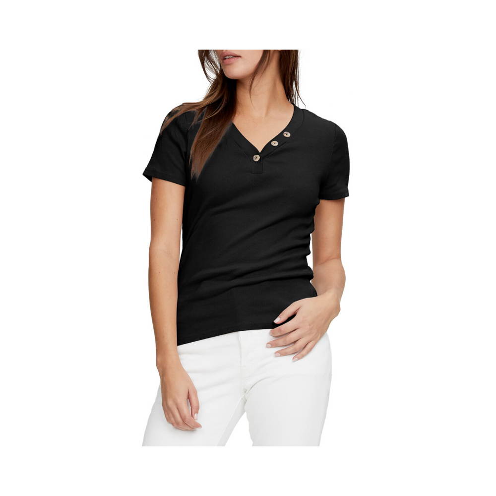 Load image into Gallery viewer, Michael Stars Kiana 1x1 Cotton Tee Black.