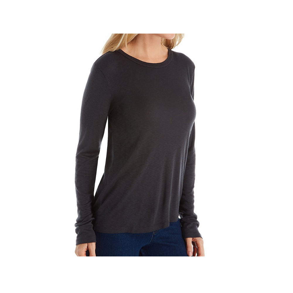 Load image into Gallery viewer, Michael Stars 1x1 Slub Long Sleeve Scoop Neck - Oxide