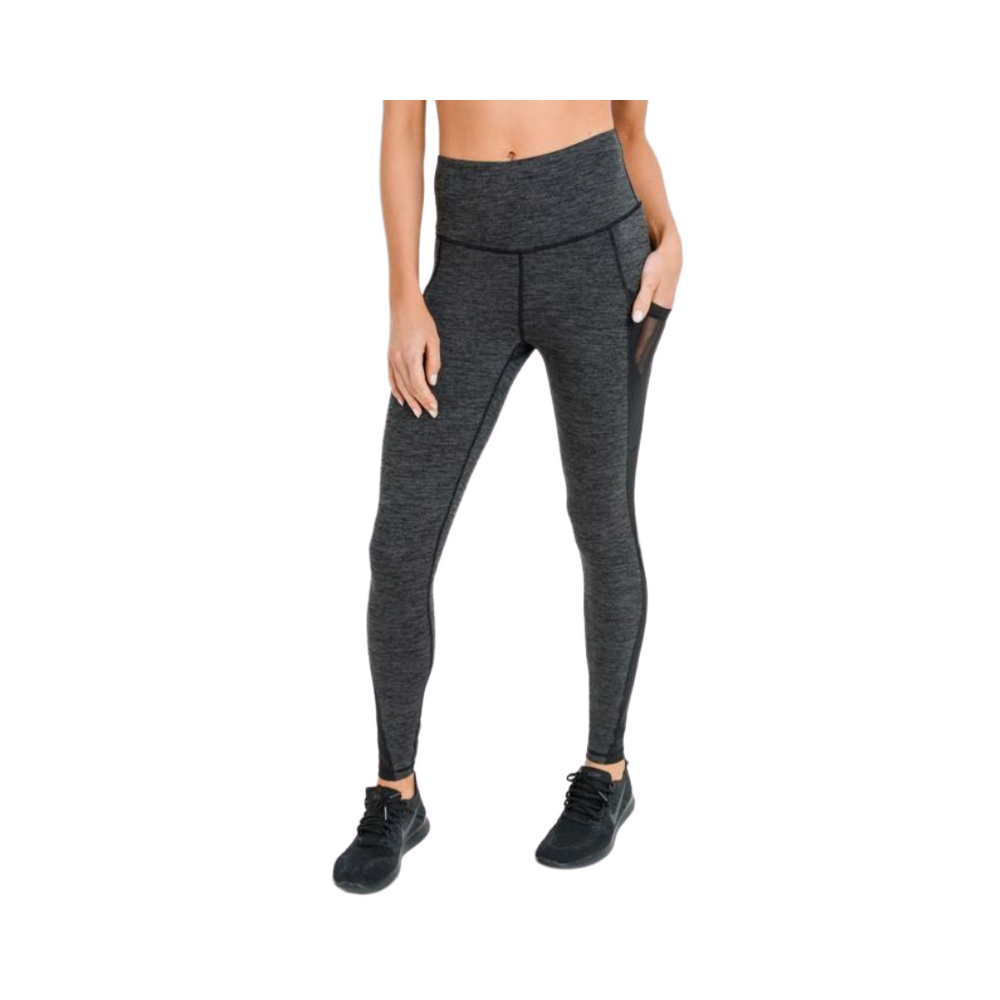 Mono B Highwaist Splice Mesh Pocket Full