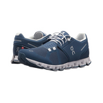 On Cloud Running Shoes Denim/White