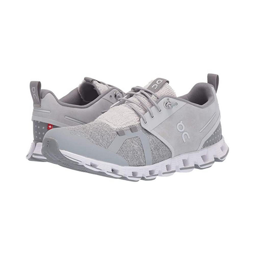 On Cloud Terry Running Shoe - Silver