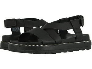 Load image into Gallery viewer, SOREL Roaming Criss Cross Sandal Black