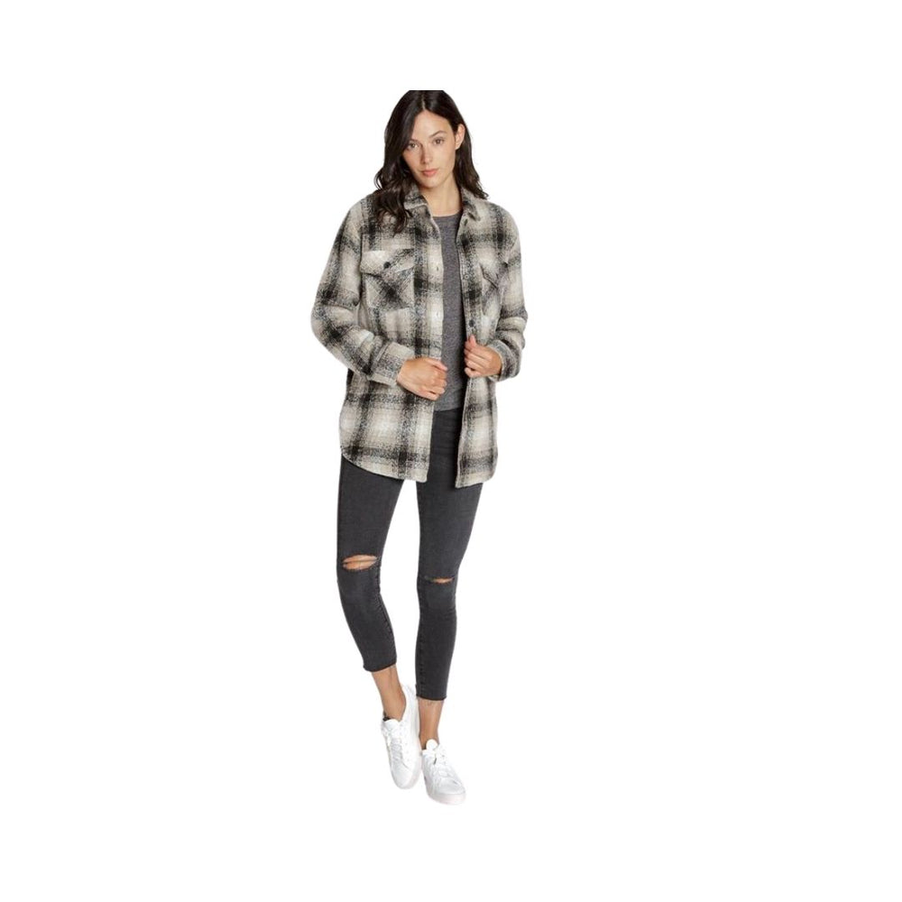 Thread and Supply Chandler Shirt Jacket, Grey Plaid