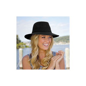 Load image into Gallery viewer, Wallaroo Victoria Fedora - Black UPF50