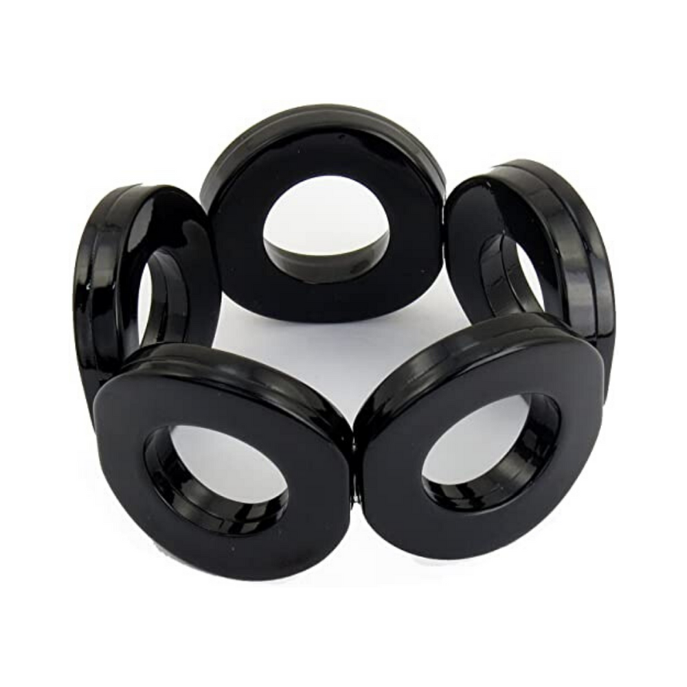 ZENZII Resin Circle Stretch Bracelet - Black