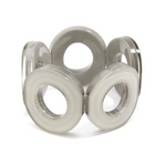 ZENZII Resin Circle Stretch Bracelet - Gray