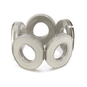 Load image into Gallery viewer, ZENZII Resin Circle Stretch Bracelet - Gray