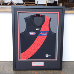 Footy Jumper, Framed Football Jumper, Melton Picture Framer, Sports Framing, Essendon Football Club, Signed Football Jumper
