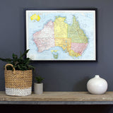idea's, design, new home, display, styles, home decor, map pinboard