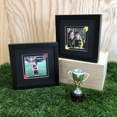AFL, Footy Fan Frames, Framed Football, Team Colours, Custom Framed, Sports Memorabilia