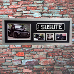 Car Racing Frame, Car Collection Memorabilia, Custom Framing, Framed Numberplate, Sports Memorabilia
