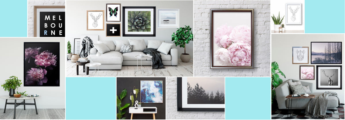 Tell your home style story, with beautifully designed Framed Art and personal treasures