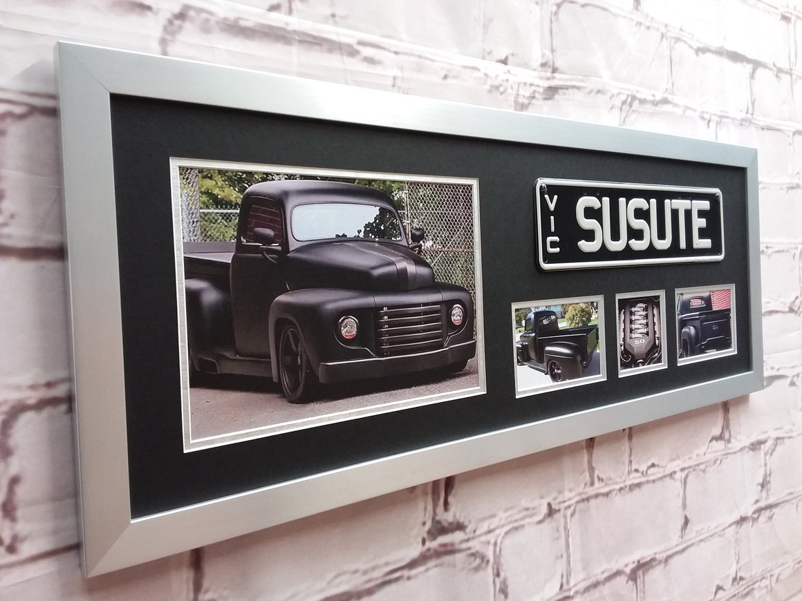 Number Plate & Car Photo's Memorabilia Frame