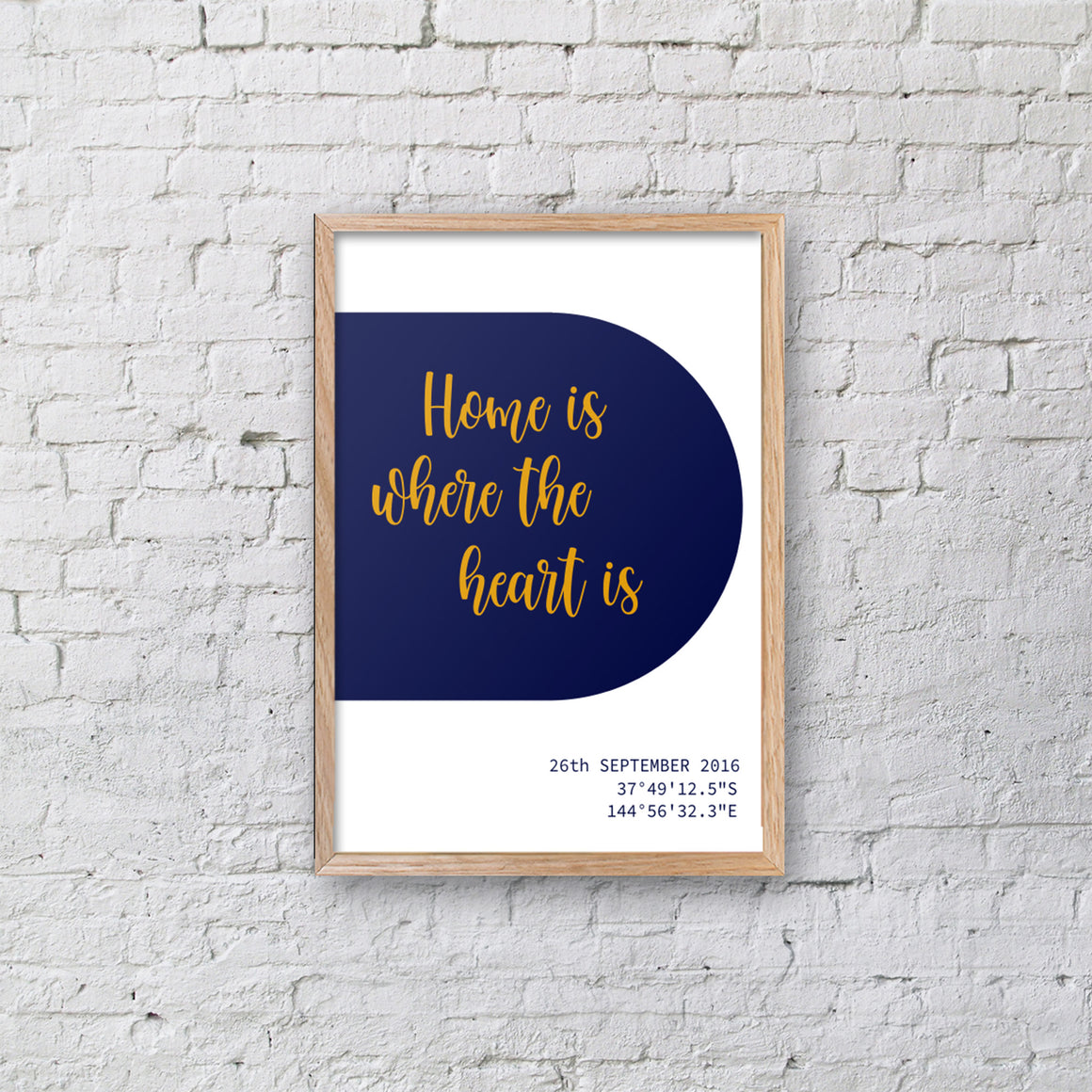 Custom Longitude / Latitude Framed Prints