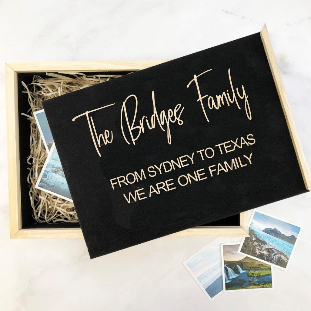 Family Personalised Story box
