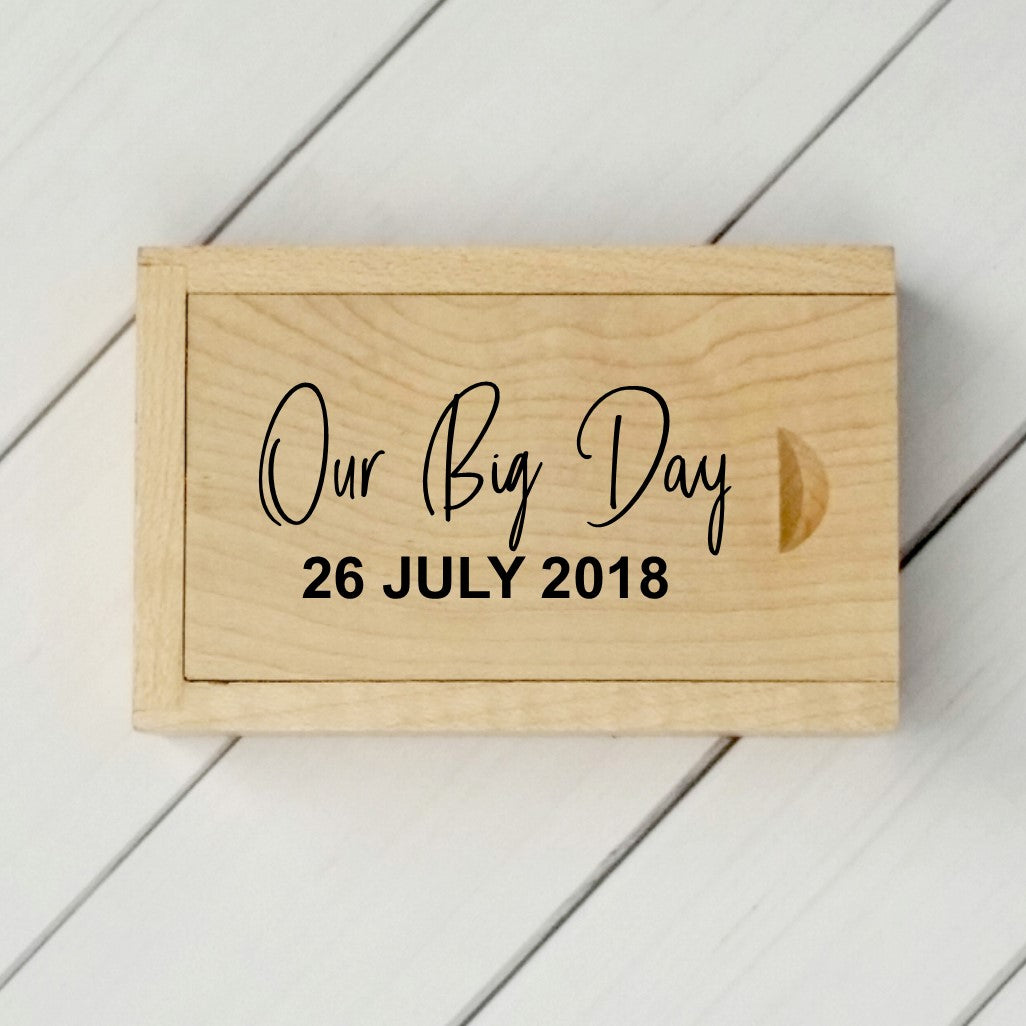 My Big Day Personalised USB with Box