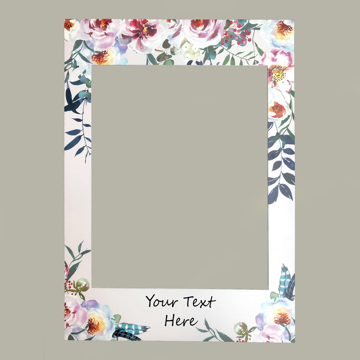 Personalised Wedding Selfie Frame - Floral