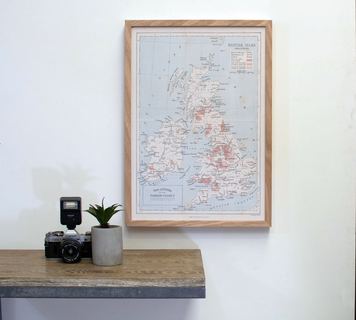 Personalised 'Great Britain' Map Pinboard