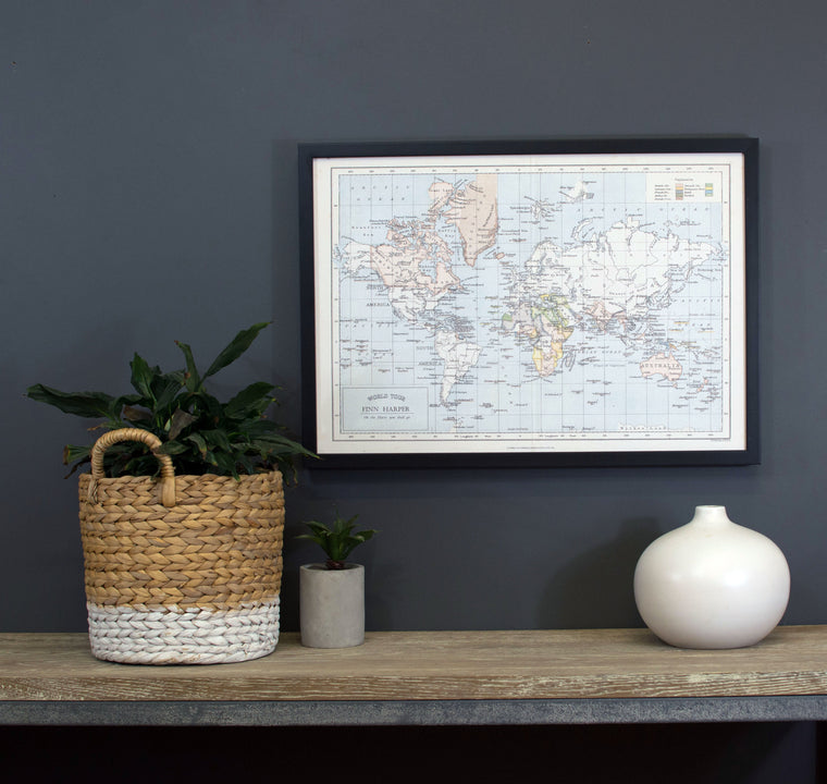 Personalised 'Around The World' Map Pinboard