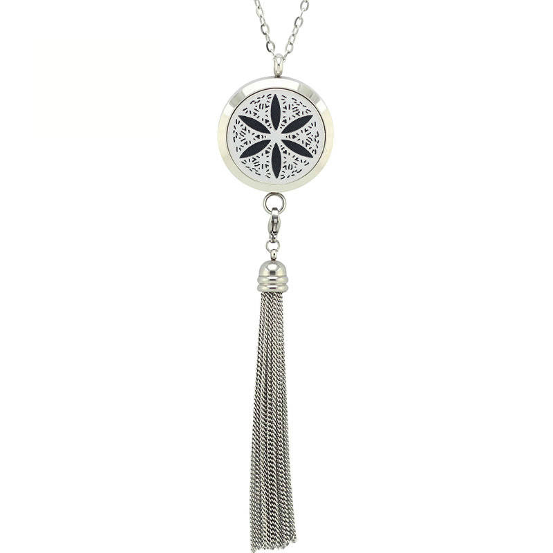 Aromatherapy Pendant Necklace With Tassel