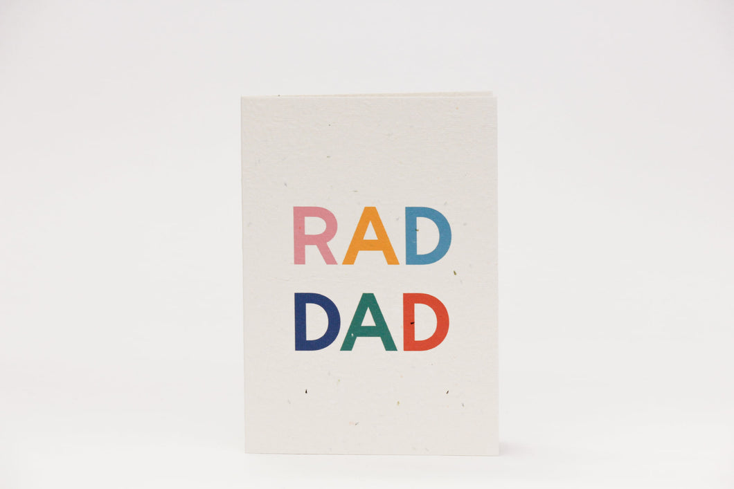 Rad Dad Blooming Card