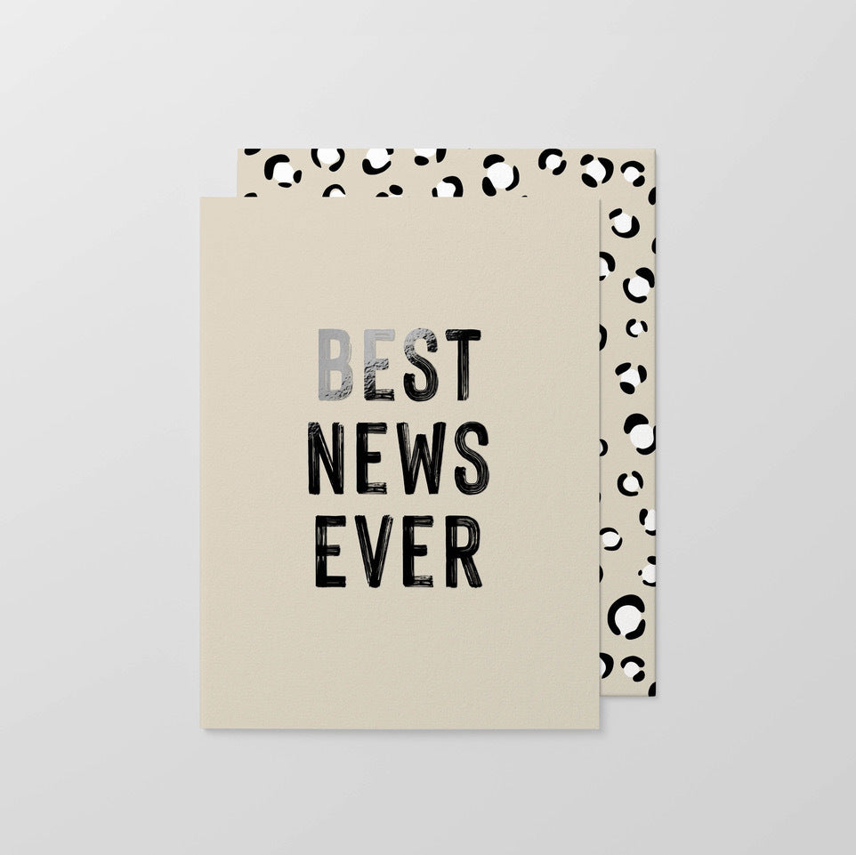 Best News Ever Foil Small Greeting Card