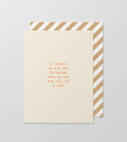 Let's Call It A Year Small Greeting Card