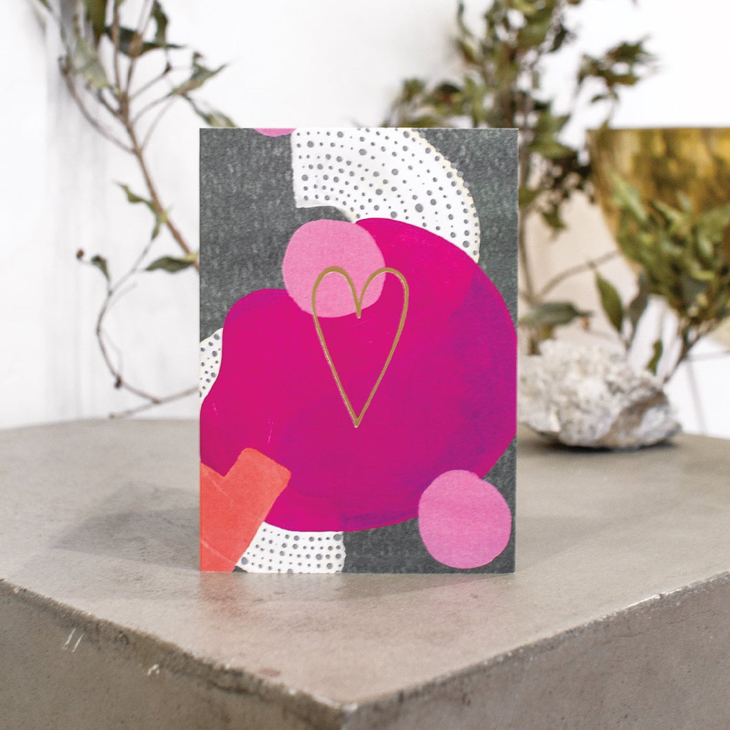 Love Dots Greeting Card