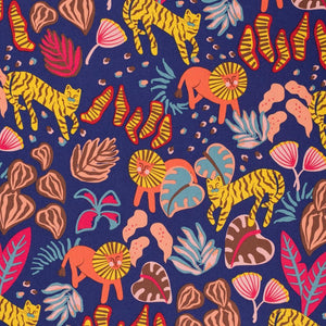 Ellie Whittaker Big Cats Wild Flame Burp Cloth