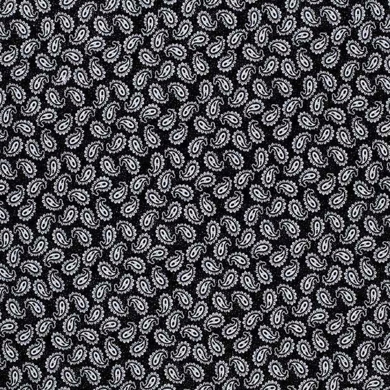 Paisley Black & White Burp Cloth
