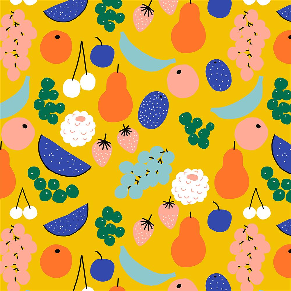 Jennifer Bouron Fruits Yellow Classic Bib