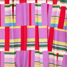 Load image into Gallery viewer, Katie Kortman Purple and Red Stripes Burp Cloth