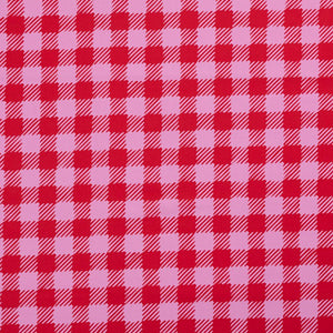 Nerida Hansen Scratchy Gingham Pink Triangle Bib