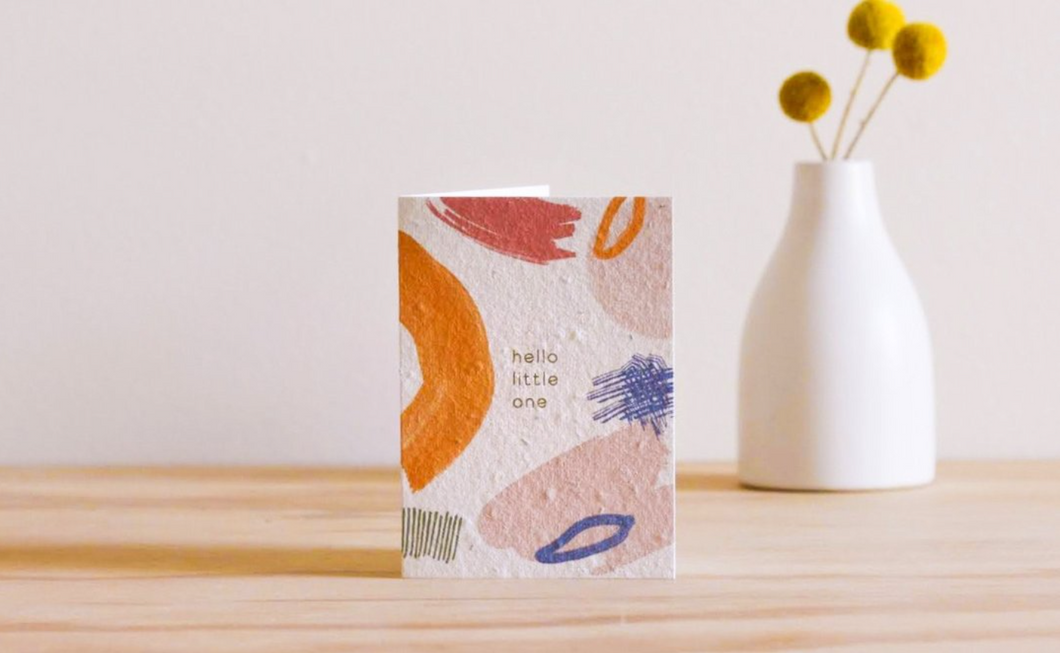Hello Little One Blooming Card