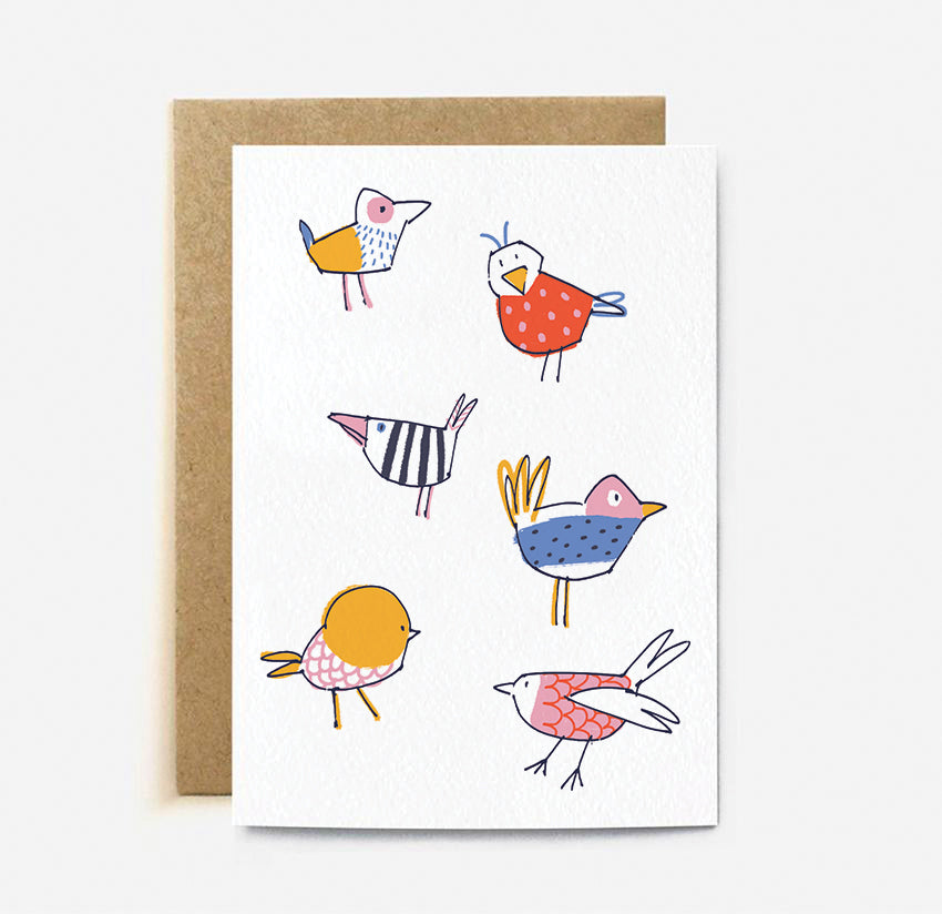 Birds Greeting Card