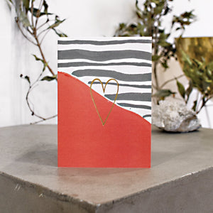 Love Stripes Greeting Card